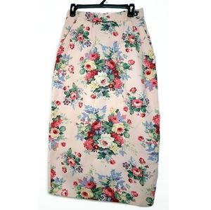 Vintage Size Small Floral Maxi Skirt
